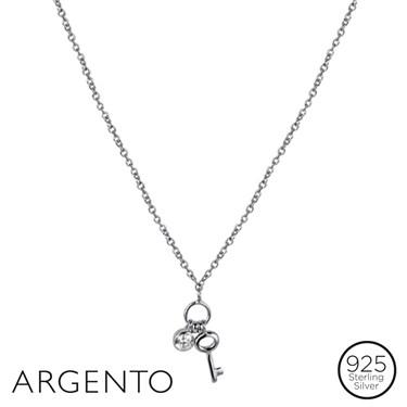 Argento Drop Key Necklace