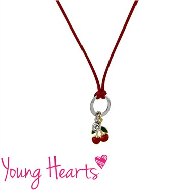 Argento Cherries Cord Necklace