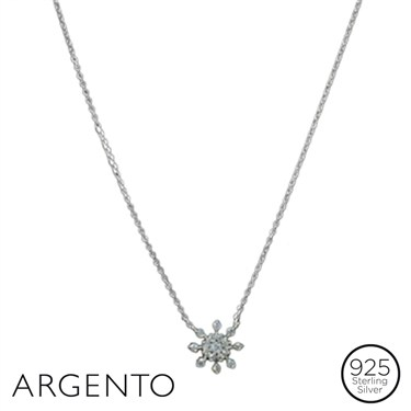 Argento Snowflake Necklace