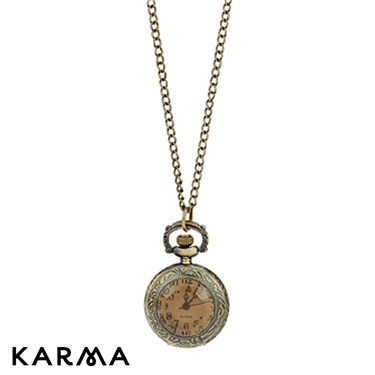 Karma Round Mini Pocket Watch