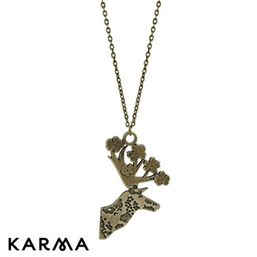 Karma Deer Head Necklace