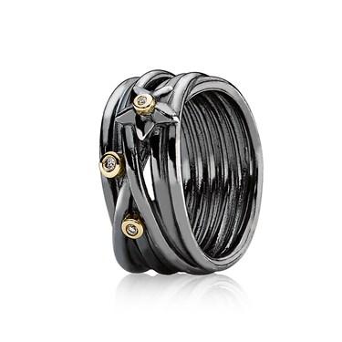 Pandora Oxidised Silver Ring