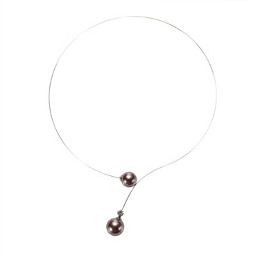Karma Faux Pearl Necklace
