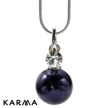 Karma Faux Pearl and Crystal Necklace