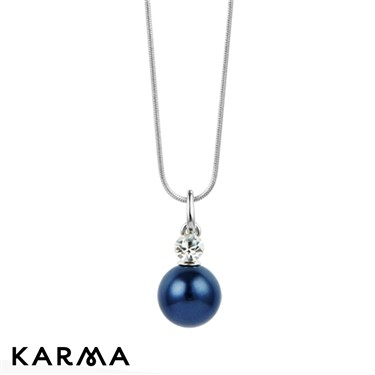 Karma Dark Blue Pearl Necklace