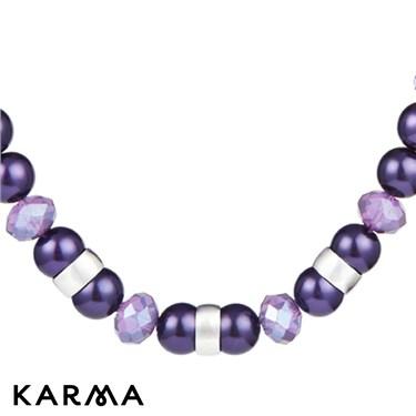 Karma Purple Pearl Chain Necklace