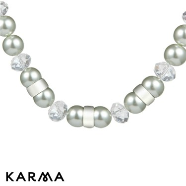 Karma White Pearl Chain Necklace