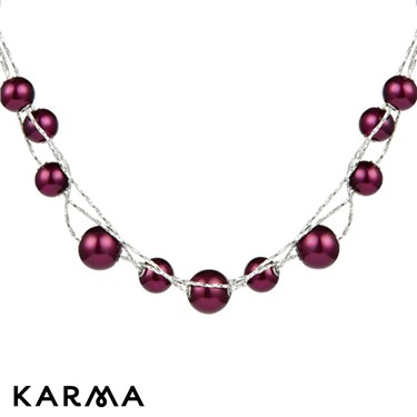 Karma Fuchia Pearl Necklace