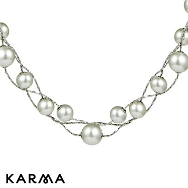 Karma White Pearl Necklace