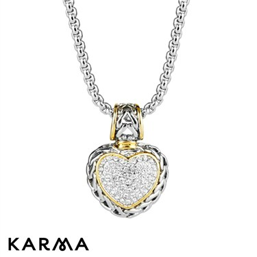 Karma Braided Heart Necklace