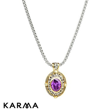 Karma Medieval Amethyst Necklace