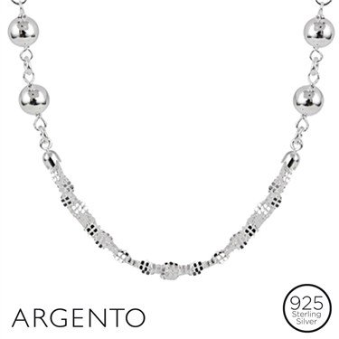Argento Silver Orb Necklace
