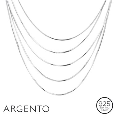 Argento Silver Layered Necklace