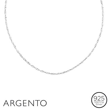 Argento Silver Twisted Necklace