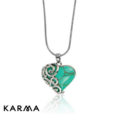 Karma Turquoise Heart Necklace