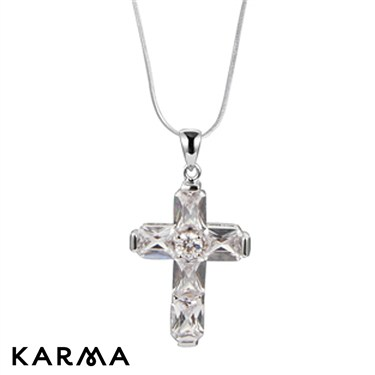 Karma Crystal Cross Necklace