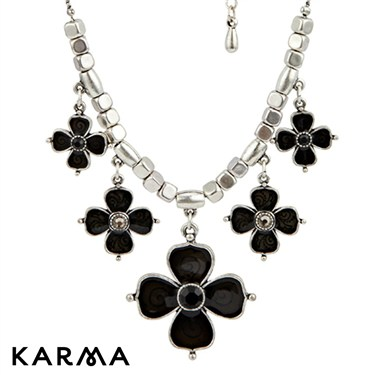 Karma Enamel Flowers Necklace