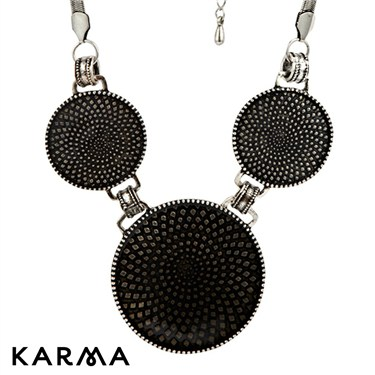 Karma Metallic Discs Necklace