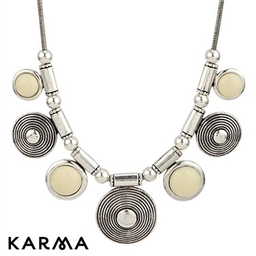 Karma Enamel Discs Necklace