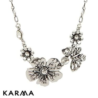Karma Metallic Flower Necklace
