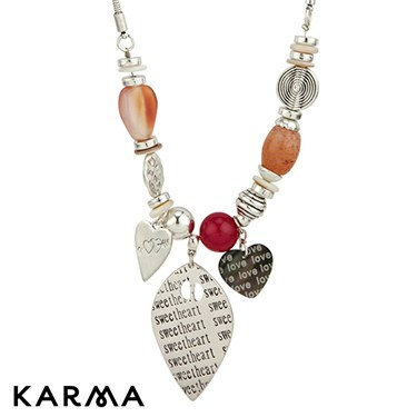 Karma Beaded Leaf Necklace