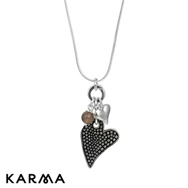 Karma Heart Pendant Necklace