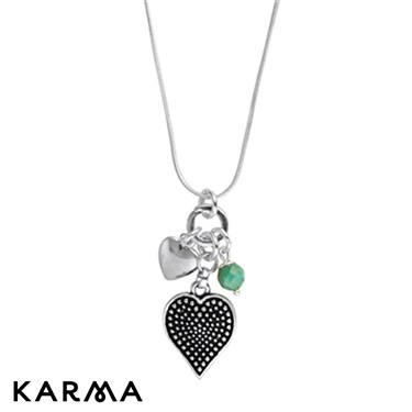 Karma Turquoise and Heart Necklace