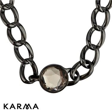 Karma Stone Clasp Chain Necklace