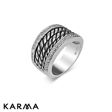 Karma Twist Pattern Ring