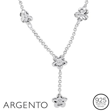 Argento Drop Flower Necklace