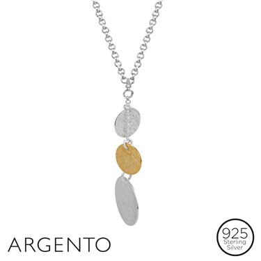 Argento Gold and Silver Coin Necklace