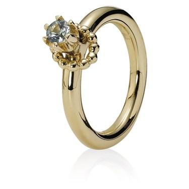 Pandora Raised Green Sapphire Ring