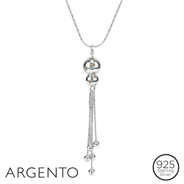 Argento Bead and Tassel Necklace
