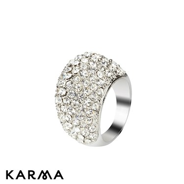 Karma Crystal Dome Ring