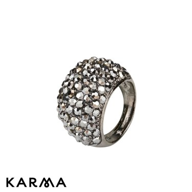 Karma Hematite Crystal Dome Ring