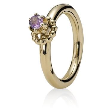 Pandora Raised Pink Sapphire Ring