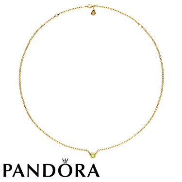 Pandora One Pod Necklace With Peridot