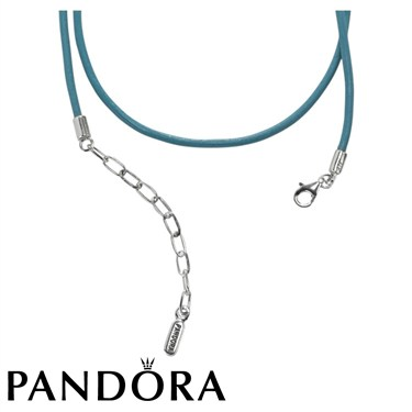 Pandora Turquoise Leather Necklace