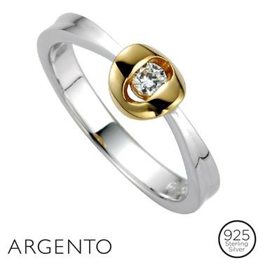 Argento Round Cubic Zirconia Ring
