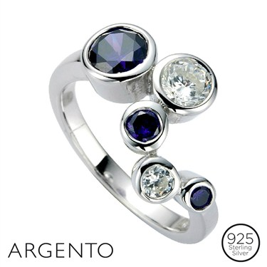 Argento Cubic Zirconia Circles Ring