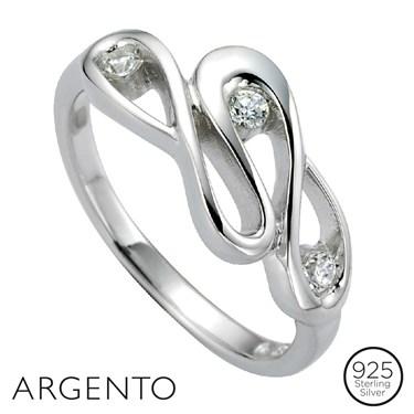 Argento Cubic Zirconia Ribbon Ring