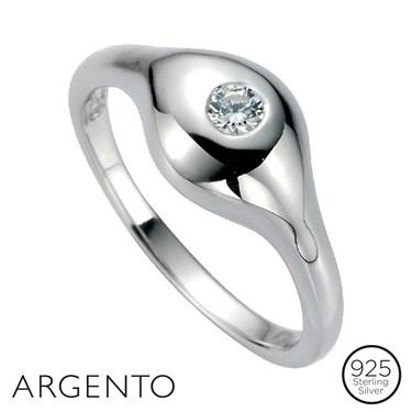 Argento Silver Cubic Zirconia Ring