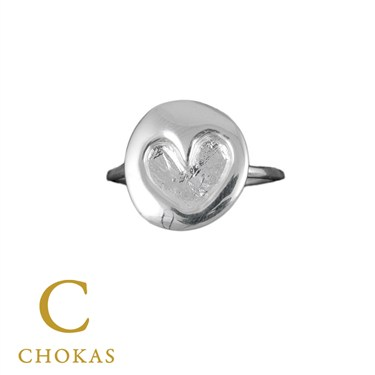 Argento Heart Stamped Ring
