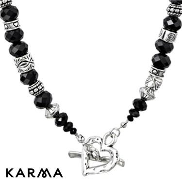 Karma T-Bar Beaded Necklace