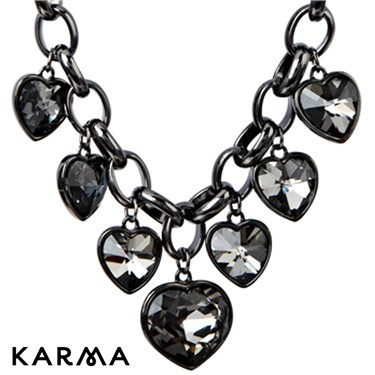 Karma Crystal Hearts Necklace