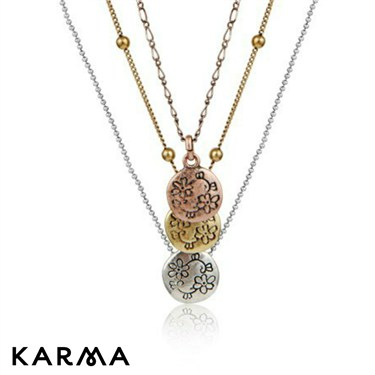 Karma Small Disc Necklace
