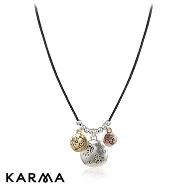 Karma Multi Disc Cord Necklace