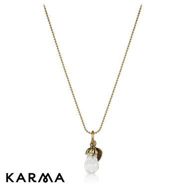 Karma Drop Crystal Necklace