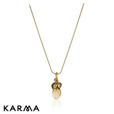 Karma Drop Crystal Necklace
