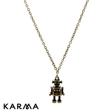 Karma Gold Robot Necklace